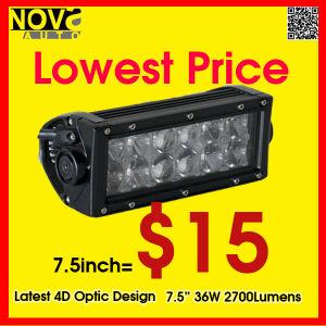 LED Auto Lighting Waterproof IP68 7.5 Inch 36W Dual Row LED Light Bars for Trucks