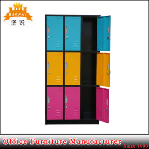 Powder-Coated Gym Used Steel Furniture 9 Door Metal Locker pictures & photos