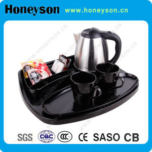 Hot Selling Hotel Electric Kettle Tray Set with Pretty Appearance pictures & photos