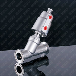 Pneumatic Angle Seat Valve Tri-Clamp Ends pictures & photos