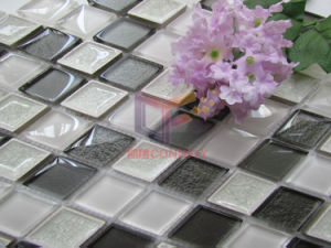 Grey Mix White Crystal and Ceramic Made Decoration Material Mosaic (CST212) pictures & photos