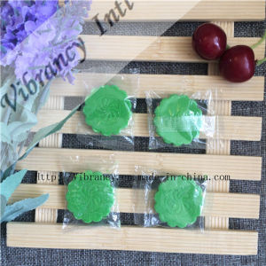 Disposable Cheap Green Flower Shape Environment Soap Hotel Soap pictures & photos