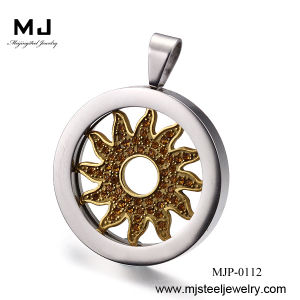 Round Fashion Flower Stainless Steel Pendants Mjp-0112