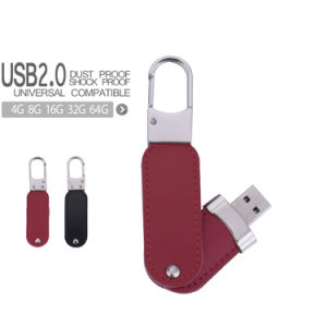 Leather USB Flash Drive with Free Key Finder 8GB 16GB Pen Drive pictures & photos