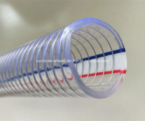 """PVC Steel Wire Reinforced Thunder Pipe Hose 1"""" 2"""" pictures & photos"""