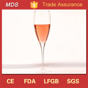 Wholesale Price Glass Deep Handmade Champagne Goblet pictures & photos