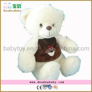 White Plush Stuffed Bear with T-Shirt