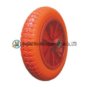 3.00-8 Flat Free PU Foam Wheel Barrow Wheels with Spoke Color Wheelbarrow Hand Truck Hand Trolley pictures & photos