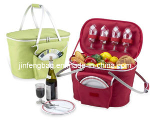 2-4 Person Folding Insulated Picnic Basket