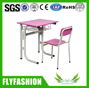 Wooden Furniture Single Pink Study Desk Chair for Classroom (SF-70S) pictures & photos