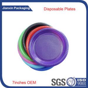 Customieze Disposable Plastic Food Plate pictures & photos
