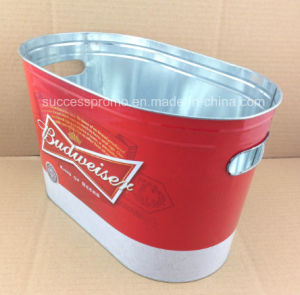Metal Tinplate Ice Bucket with Full Colors Printing pictures & photos