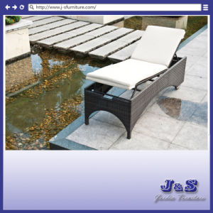 Outdoor Patio Rattan Sunbed Chaise Lounge, Garden Wicker Furniture Set (J4275) pictures & photos