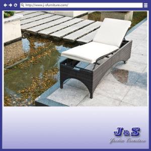 Outdoor Patio Rattan Sunbed Chaise Lounge, Garden Wicker Furniture Set (J4275)