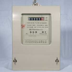Three Phase LCD Backlight Display Electric Energy Meter pictures & photos