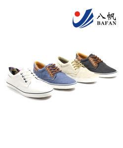 Men′s Canvas Flat Low Casual Shoes (Bfm0347) pictures & photos