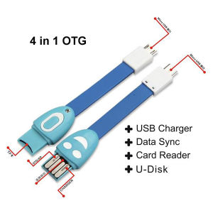 4 in 1 Multi Function Smart Phone Micro USB Cable OTG Digital Strap pictures & photos