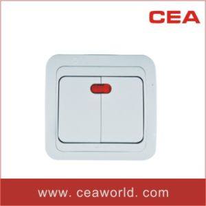 10A 250V 2 gang wall switch with neon indicator pictures & photos