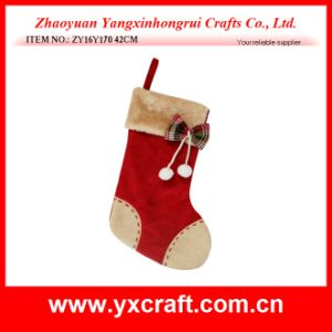 Christmas Decoration (ZY16Y170 42CM) Linen Joint Christmas Gift Christmas Storage Bag pictures & photos