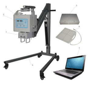Med-X-Yjp040dr-a Digital Portable High Frequency X-ray Machine for Medical Diagnosis pictures & photos