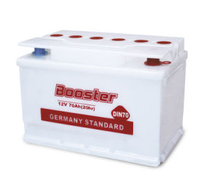 12 V Booster DIN Standard Battery for Truck DIN70 pictures & photos