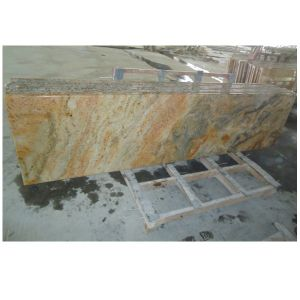Luxurious Natural Stone Imperial Gold Granite Countertop pictures & photos
