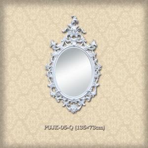 Purely White European Style Mirror Frame for Villa pictures & photos