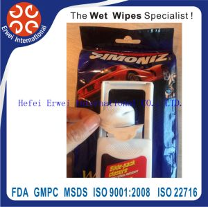 Professional Factory Made 55 GSM Car Interior Cleaning Wet Wipes pictures & photos