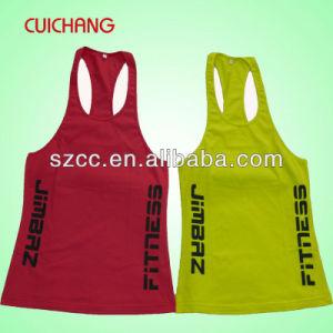 Wholesale Cotton Silk Screen Printing/Embordery Custom Design Sports Wear Women Gym Singlet Tank Top Bx-021 pictures & photos