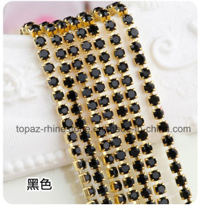 Golden Claw Strass Rhinestone Cup Chain in Jet Black (RCG-2.5mm jet black) pictures & photos