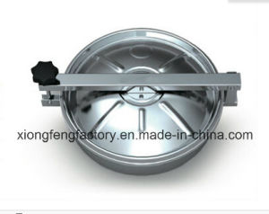 Food Grade Ss304 Non-Pressure Upper Seal Round Manway Cover
