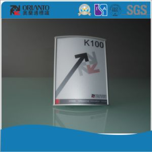 Single Side L-Type Aluminium Table Sign pictures & photos