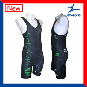 2017 Healong Any Logo Sportswear Sublimation Men′s Wrestling Singlets pictures & photos