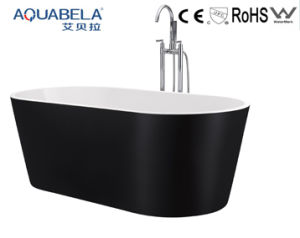 Hot Style Acrylic Freestanding Bathtub with Mixer/ Black Color (JL609) pictures & photos