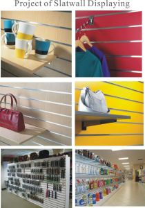 Display High Quality UV Faced MDF Slatwall pictures & photos