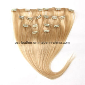 Clip in Human Hair Extensions Color 7 8 10 Pieces 70g 100g Best 7A Quality 100% Real Human Remy Hair Extensions Clip on pictures & photos