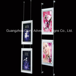 Hanging Crystal Light Box, Acrylic Poster Frame pictures & photos