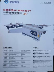 Hxzd2800 Precision Sliding Table Panel Table Saw pictures & photos