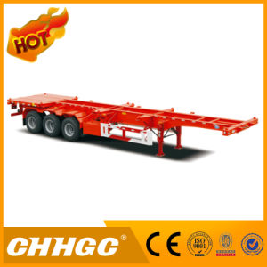 Chhgc 3axle Skeleton Container Semi-Trailer with Floor pictures & photos