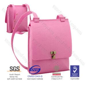 Popular Pink Stylist Beauty Felt Shoulder Bag, Felt Handbags, Felt Messenger Bag pictures & photos