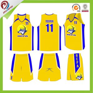 Sublimated Custom Latest Basketball Jersey Design 2016 pictures & photos