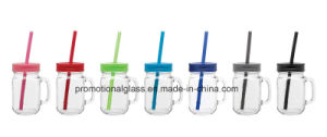 Sublimation Mason Jar, 16oz Drinking Glass Mason Jar with Straw pictures & photos