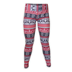Custom Womens Printed Spandex Long Tight Pants for Fitness pictures & photos