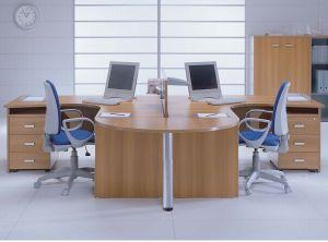 MFC Wooden Furniture 2 Seat Workstation Partition (DA-091)