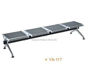 Metal Bench with Stainless Steel Seat and Legs Waiting Chair (YA-117) pictures & photos