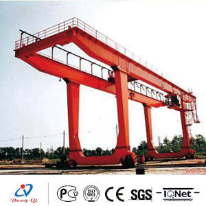 Double Girder Rail Type Container Gantry Crane for Lifting Container