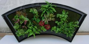 Artifical Pot Plants for Wall Hanging with Sector Pot