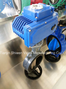 Wafer Type Butterfly Valve with Electric Actuator pictures & photos