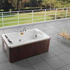 China indoor bathroom 2 person acrylic massage bathtub hot for Indoor bathroom hot tubs