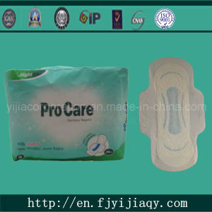 Ultra Thin Blue Printed Sanitary Pad pictures & photos